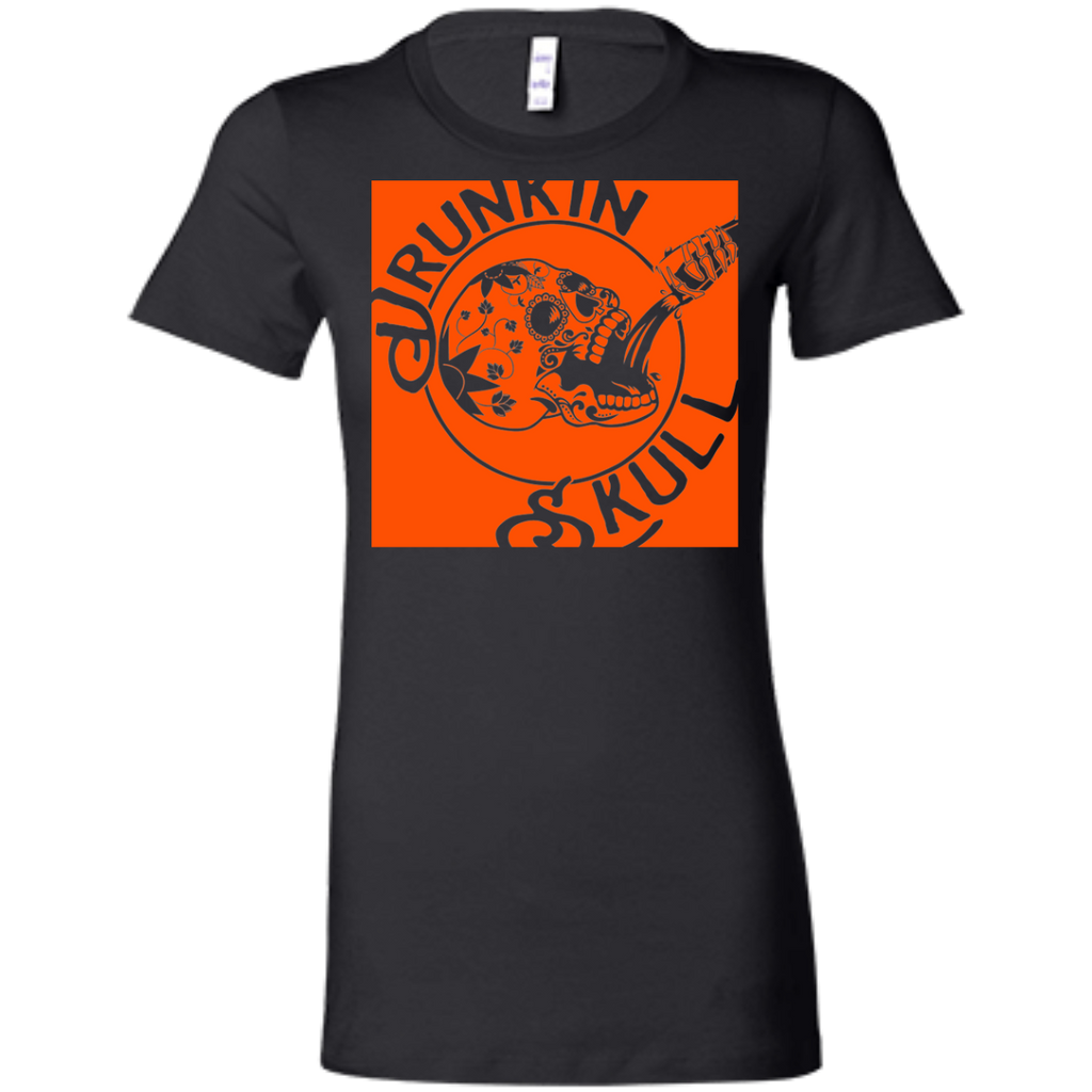 Drunkin Skull Co. Ring Spin Ladies Tee