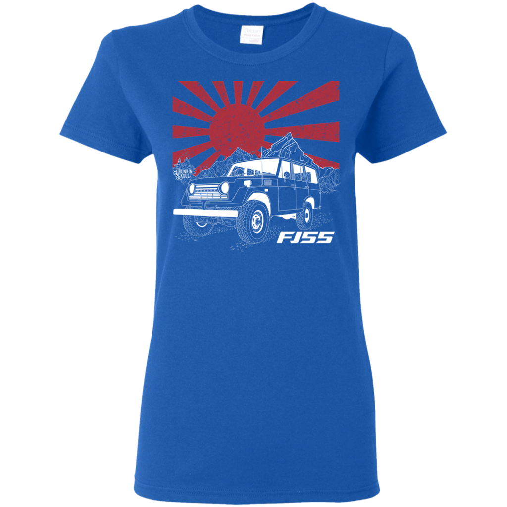 FJ55 Toyota Land Cruiser Heritage Series Ladies T-Shirt