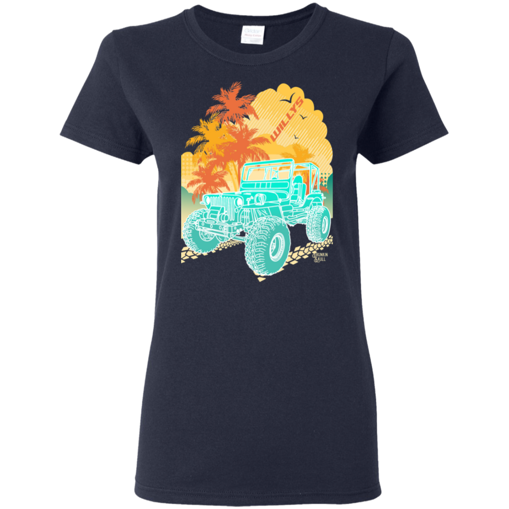 Jeep Willys Aloha Series Ladies Tee