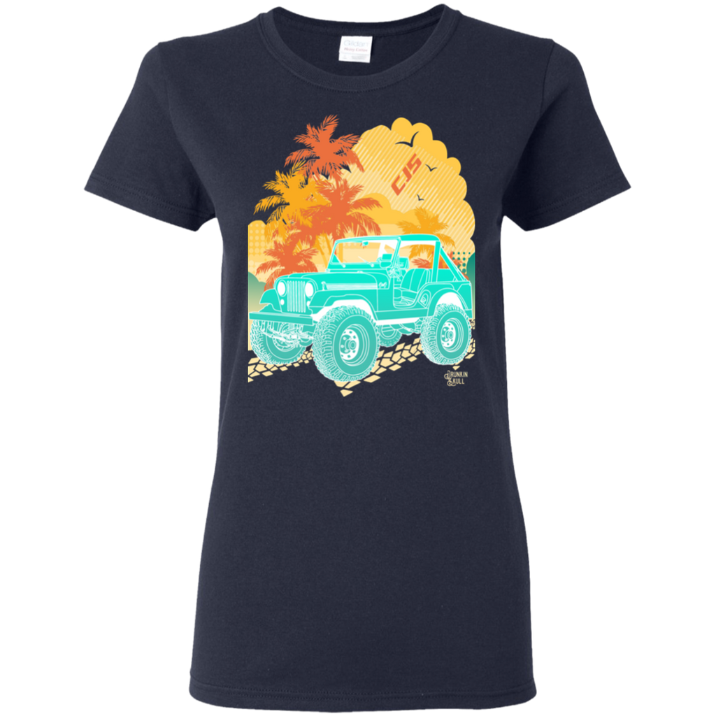 Jeep CJ Aloha Series Ladies Tee