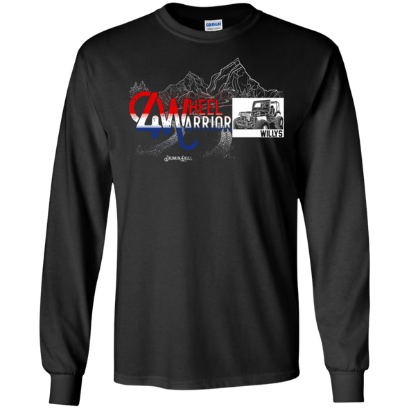 Jeep Willys 4 Wheel Warrior Long Sleeve Tee