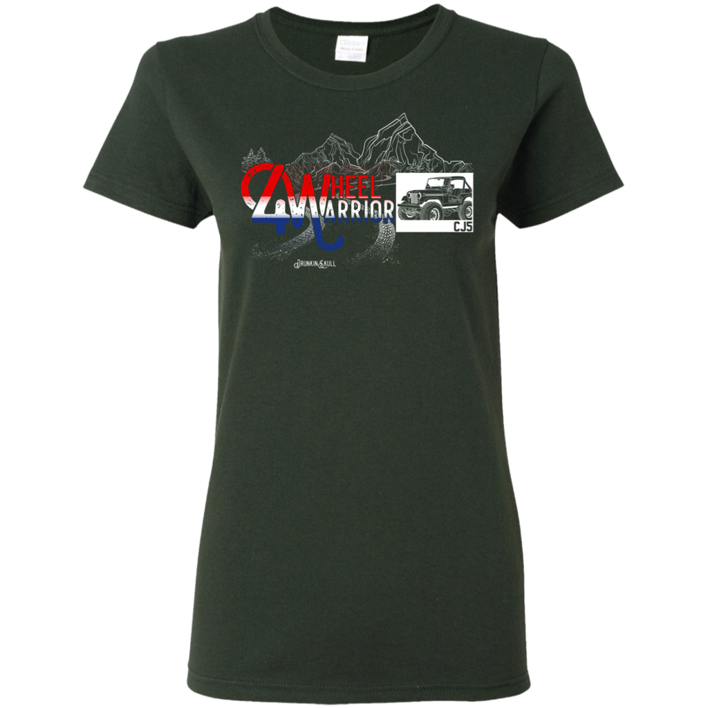Jeep CJ 4 Wheel Warrior Ladies Tee