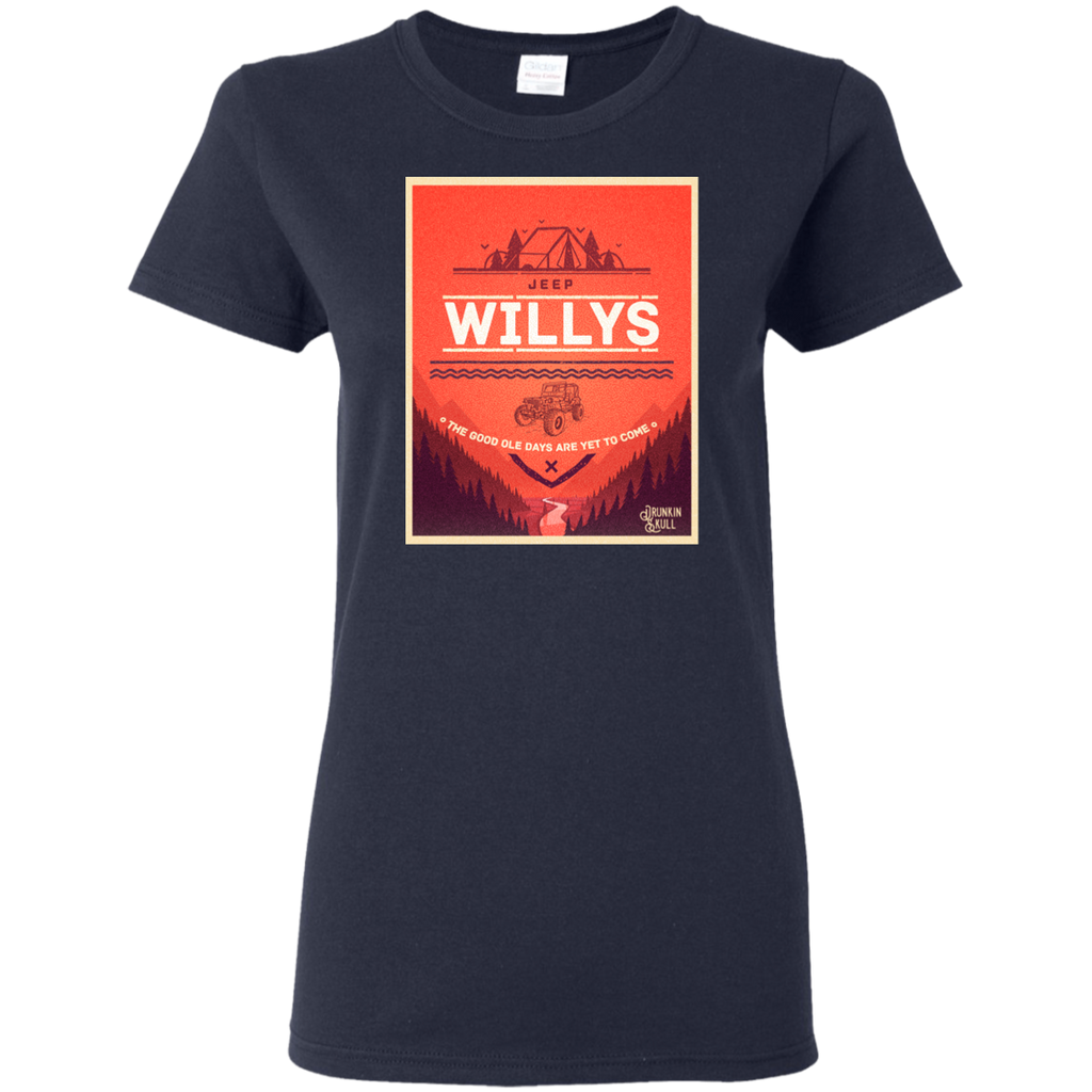 Jeep Willys Adventure Series Ladies Tee