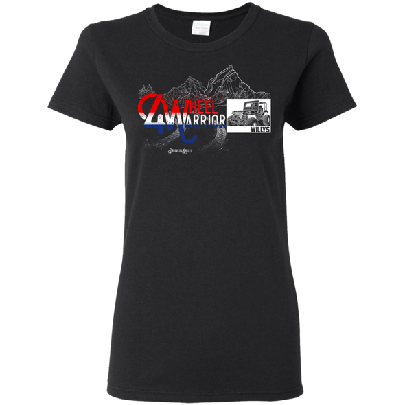 Jeep Willys 4 Wheel Warrior Ladies Tee