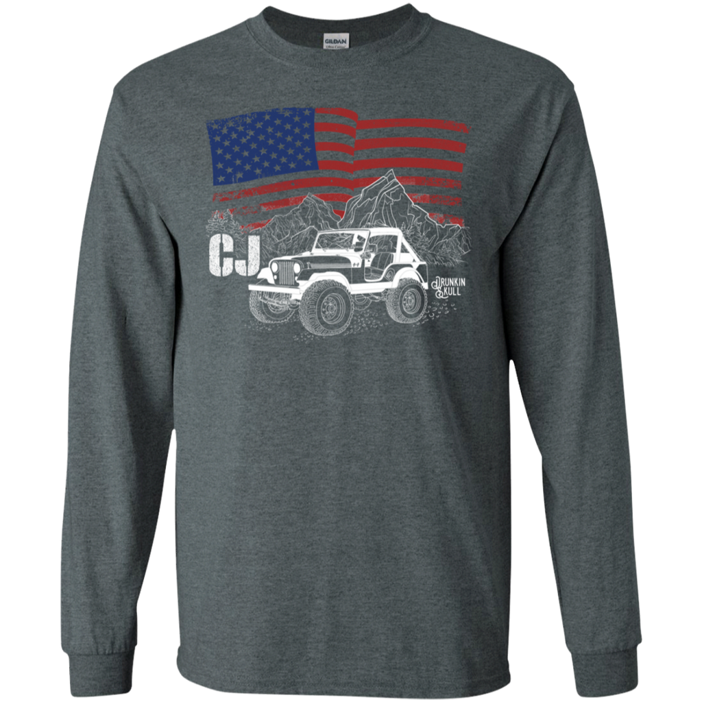 Jeep CJ Heritage Series American Flag Long Sleeve Tee