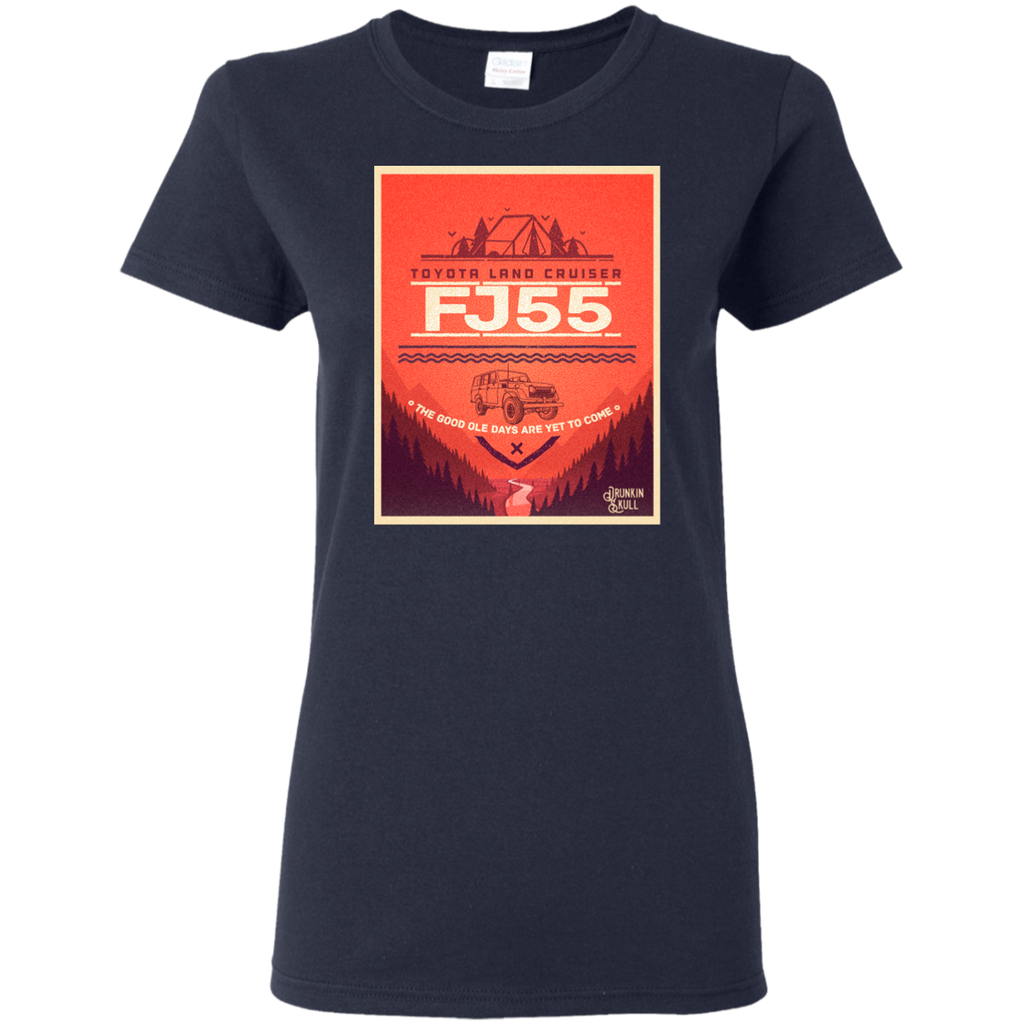 FJ55 Toyota Land Cruiser Adventure Series Ladies T-Shirt