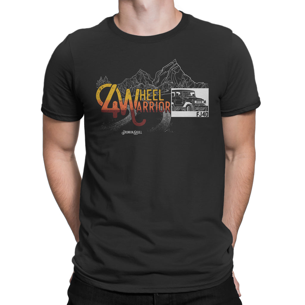 FJ40 Toyota Land Cruiser 4 Wheel Warrior T-Shirt