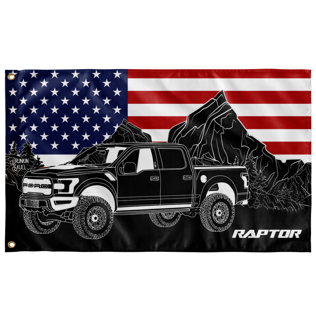 Ford Raptor Heritage Series American Flag 3x5 Wall Flag