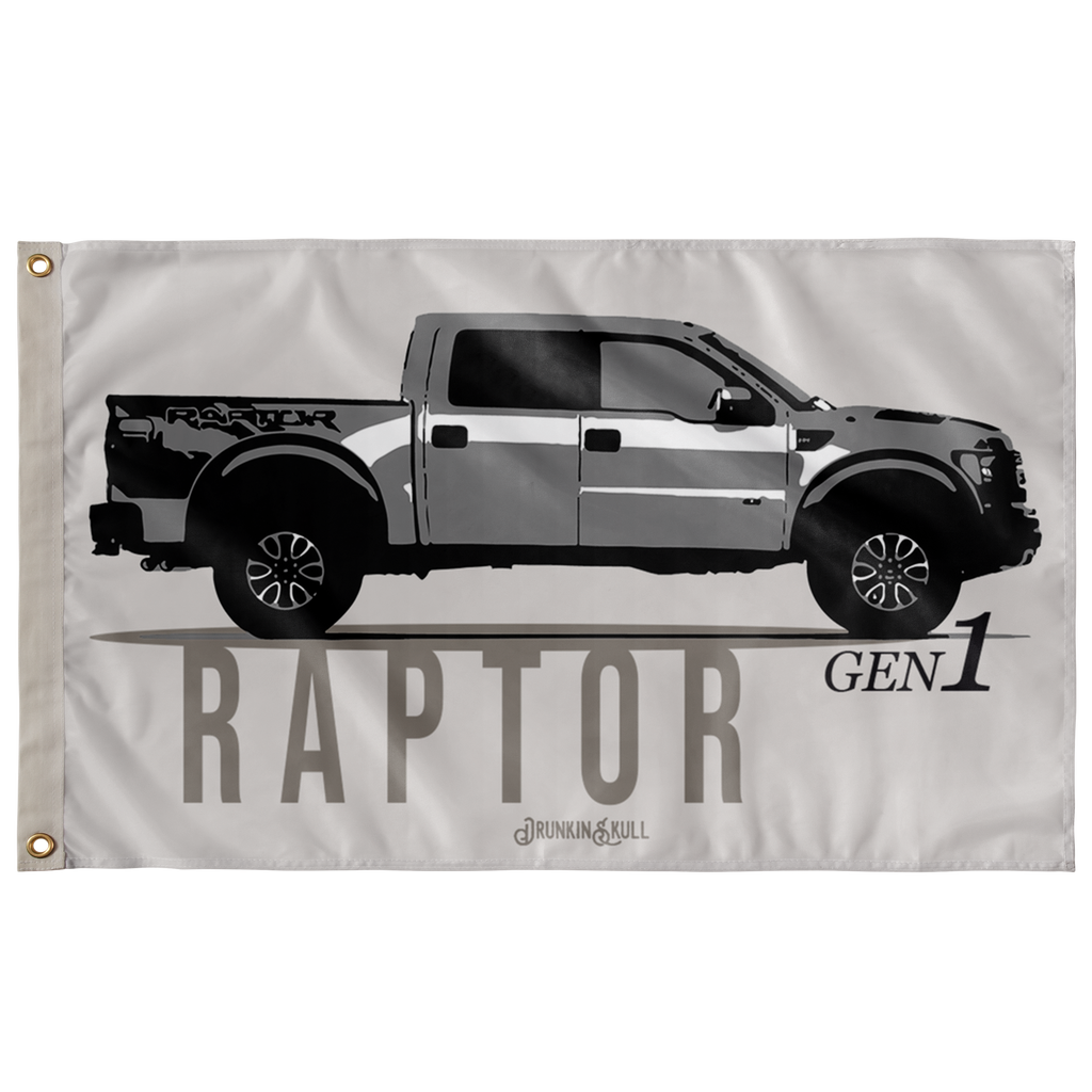 Ford Raptor Gen 1 VIntage 3x5 Wall Flag