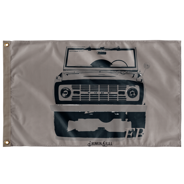 Early Bronco Sahara Series 3x5 Wall Flag