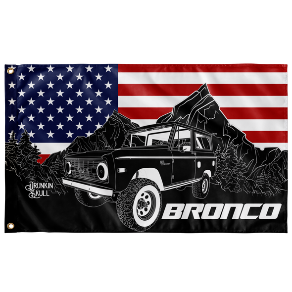 Ford Early Bronco Heritage Series 3x5 Wall Flag