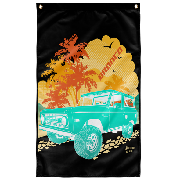 Early Bronco Aloha Series 3x5 Wall Flag