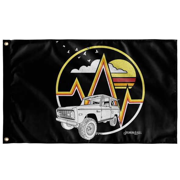 Early Bronco Livery Series 3x5 Wall Flag