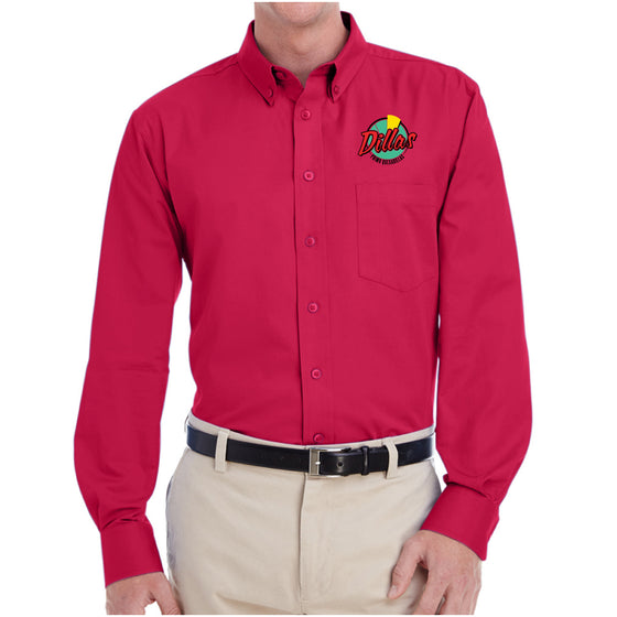 Dillas Harriton Men's Long-Sleeve Twill Shirt - M581