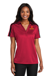 Port Authority® Ladies Silk Touch™ Performance Colorblock Stripe Polo - L547