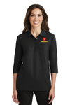 Port Authority® Ladies Silk Touch™ 3/4-Sleeve Polo - L562