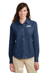 Port & Company® - Ladies Long Sleeve Value Denim Shirt - LSP10