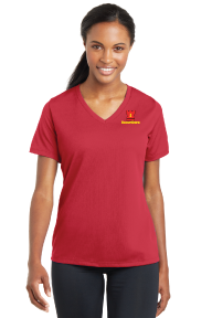 Sport-Tek® Ladies PosiCharge® RacerMesh® V-Neck Tee -  LST340