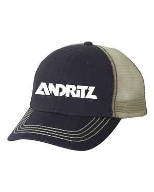 Mega Cap - Washed Twill Trucker Cap - 6894