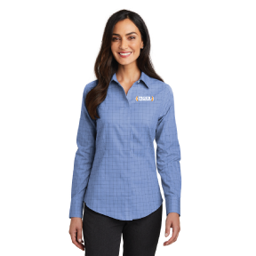 Red House® Ladies Windowpane Plaid Non-Iron Shirt - RH71