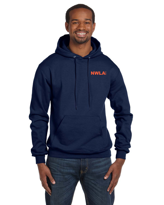 Navy Anvil® 100% Combed Ring Spun Cotton Long Sleeve Hooded T-Shirt - 987