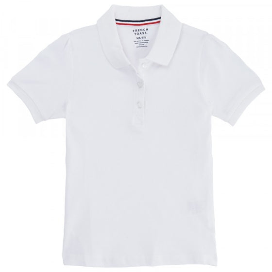 SPE - Girls White French Toast Short Sleeve Stretch Pique Polo - SA9403