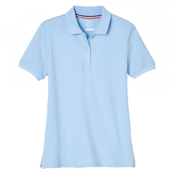 SPE - Girls Light Blue French Toast Short Sleeve Stretch Pique Polo - SA9403