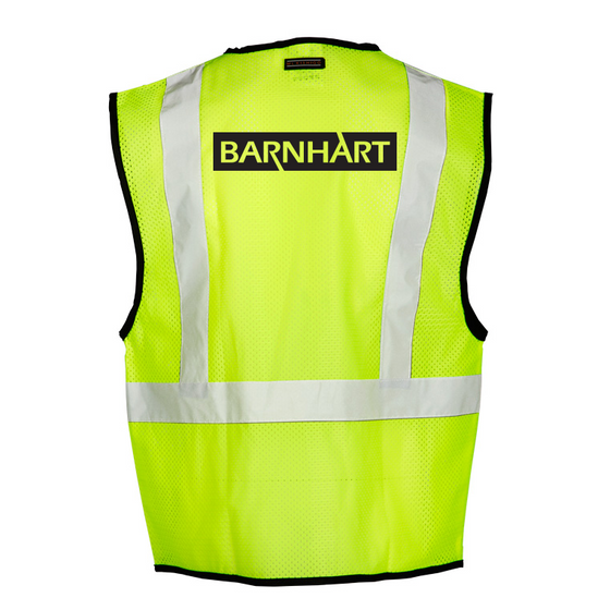 Barnhart ML Kishigo - Class 2 Economy Vest with Zipper Front - 1519-1520