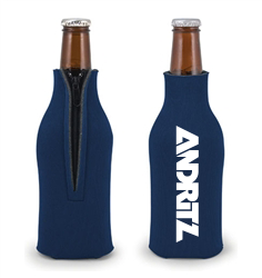 Collapsable Neoprene Bottle Holder - Navy (5)