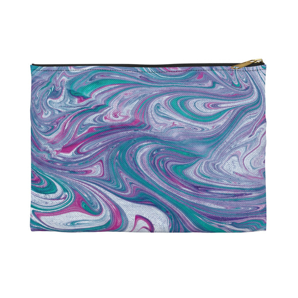 Turquoise Wave Accessory Pouch