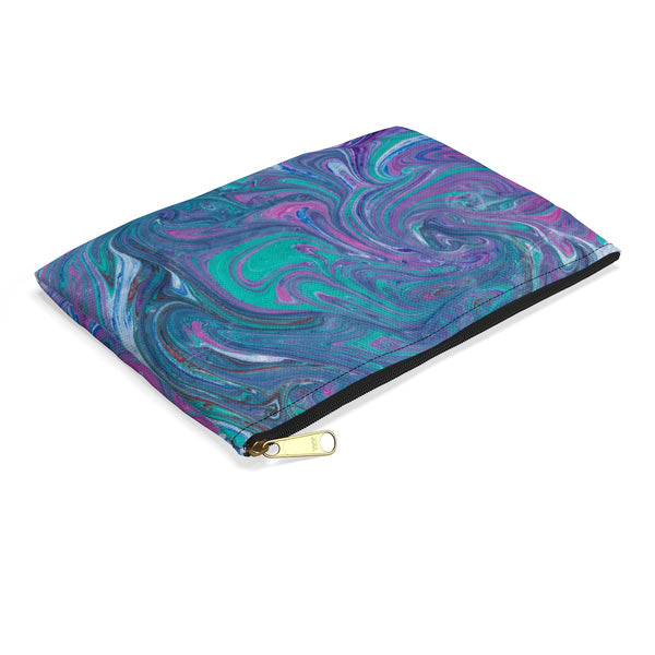 Turquoise Swirl Accessory Pouch