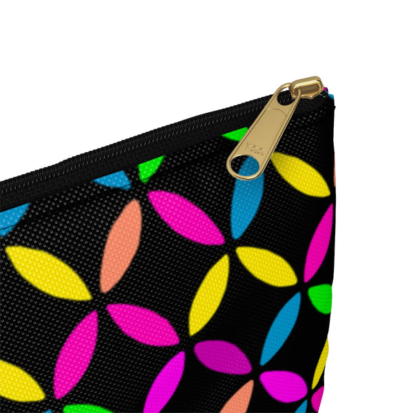 Geo Circle Accessory Pouch - Black