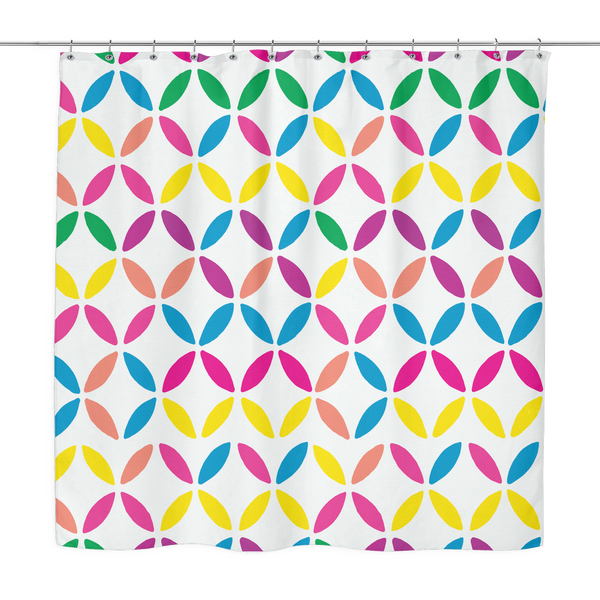 Geo Circles Shower Curtain