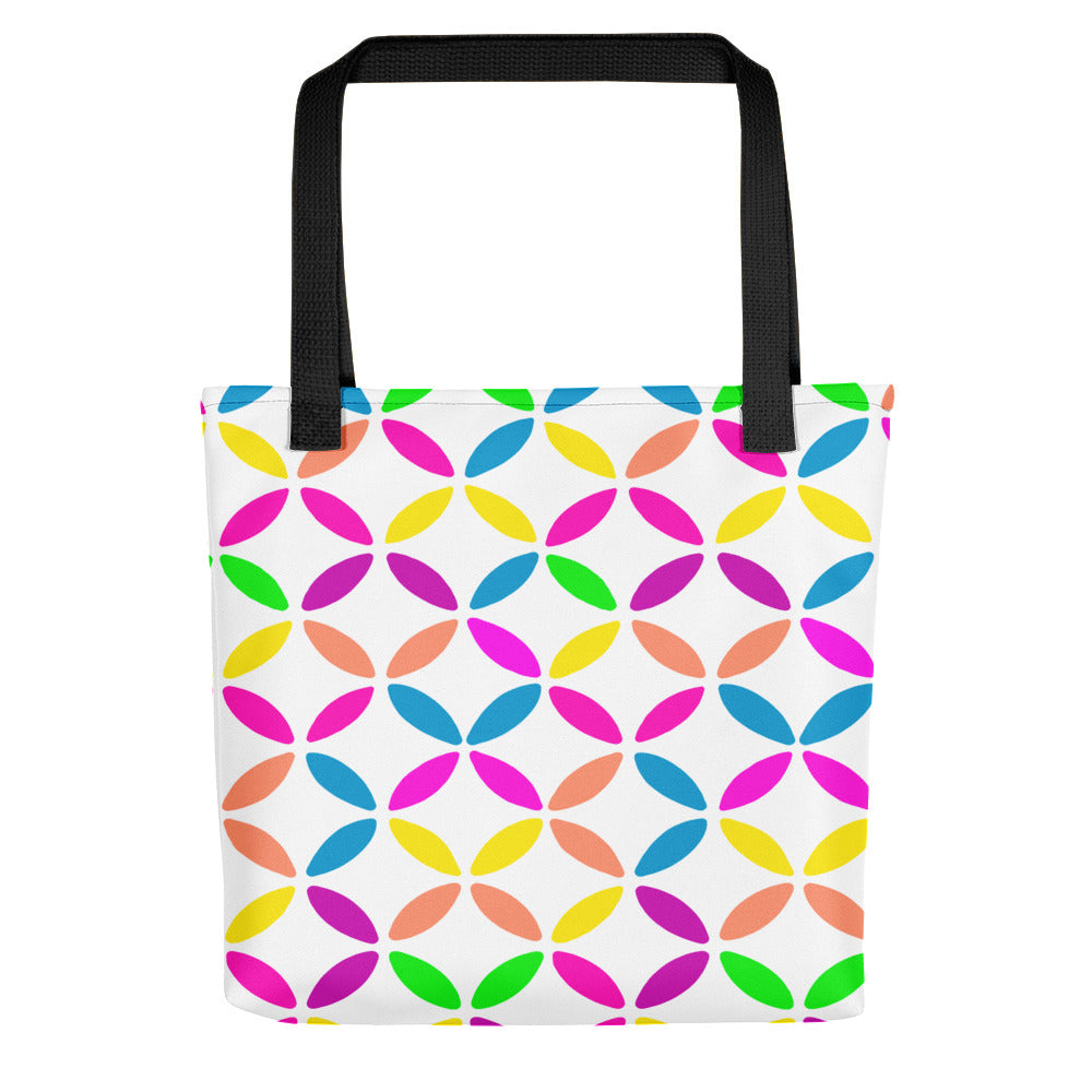 Geo Circles White Tote bag
