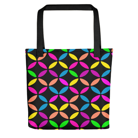 Geo Circles Black Tote bag