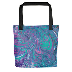 Turquoise Swirl Tote bag
