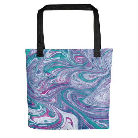 Turquoise Wave Tote bag
