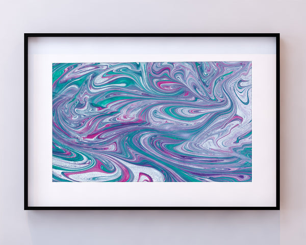 Turquoise Wave Print