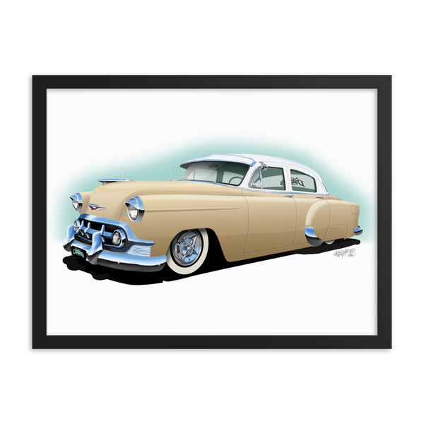 1953 Chevrolet Framed poster
