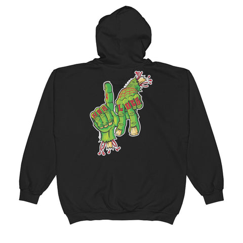 Gangsterbilly Re-release Hardluck LA Unisex  Zip Hoodie