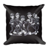 Zombies For Life Square Pillow