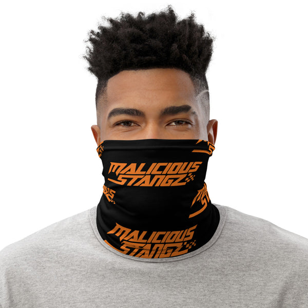 Malicious Stangz Orange Logo Neck Gaiter