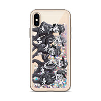 Zombies for Life Liquid Glitter Phone Case