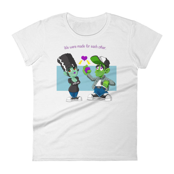 """We were made for each other"" Women's short sleeve t-shirt"