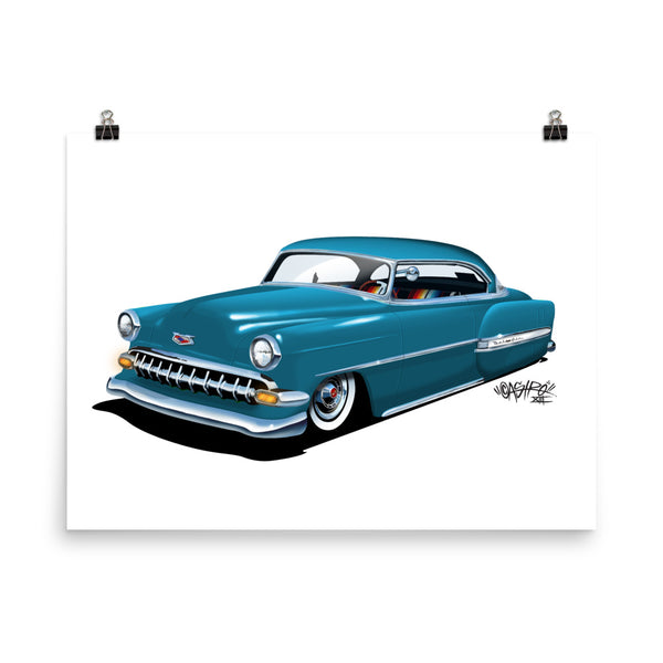 Slow 'N Low '54 Blue Poster