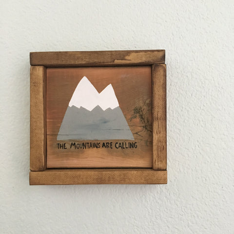 The Mountains Are Calling Mini Painting