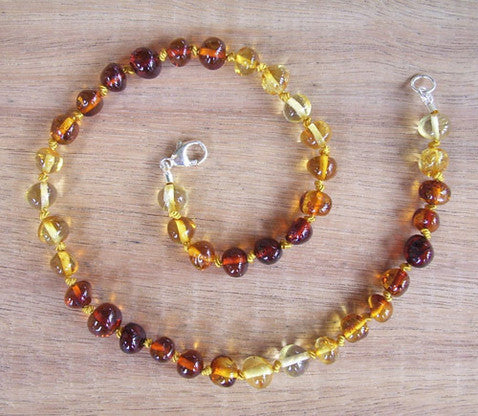 Light Rainbow - Baltic Amber Teething Necklace