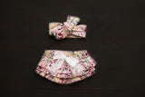 Vintage floral bloomers with matching headband headwrap