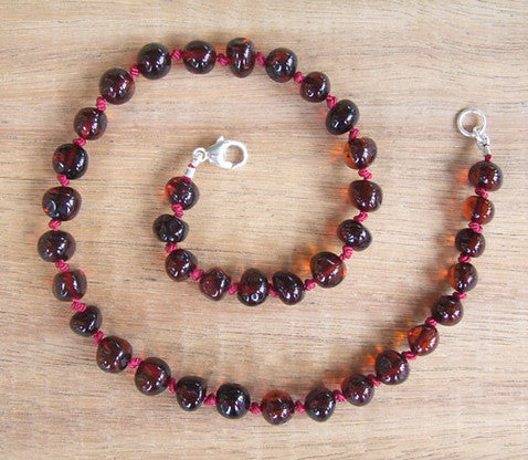Cherry - Baltic Amber Teething Necklace