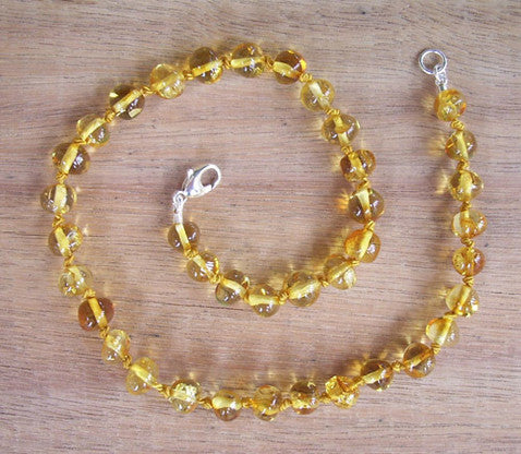 Honey - Baltic Amber Teething Necklace
